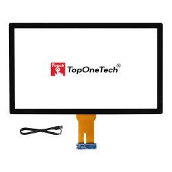 IPS de 32 polegadas monitor TFT LCD colada no sensor de toque capacitivo projectado a tela do painel