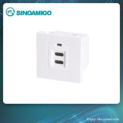 멀티 포트 휴대폰 급속 충전기 USB 벽면 소켓