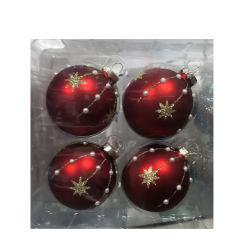 Ornament van de Bal van Kerstmis van het Glas van de Snuisterijen van Kerstmis van het Embleem van de douane het Decoratieve Kleine Lege