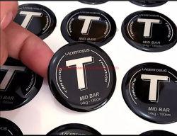 Personalizar etiquetas de logotipo Cristal abobadadas epóxi Poliuretano Adesivo 3D