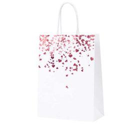 고급 맞춤형 디자인 선물 포장 핸드백 종이 가방 인쇄 아름다운 꽃가게 외관