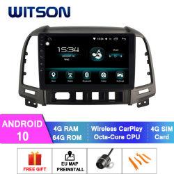 Auto-Audiovideo des Witson Android-10 für Hyundaisanta fe 4GB RAM 64GB grellen grossen Bildschirm 2006-2012 im Auto-DVD-Spieler