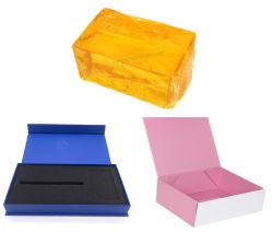 경질 하드 박스 포장 접착제 PSA 고온 용융 접착제 코팅된 케이스 어셈블리 고온 용융물 포장, 고온 저항