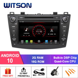 Witson Quad-Core Android 10 Alquiler de DVD GPS para Mazda 3 Construido en 16GB Inand