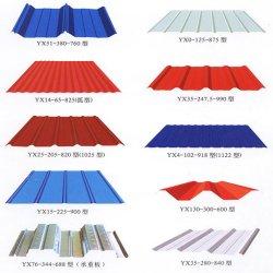 입힌 PPGI 색깔은 강철 금속 지붕 장 건축재료를 위한 아연에 의하여 직류 전기를 통한 주름을 잡은 강철 철 기와를 Prepainted