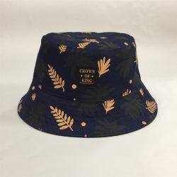 Moda chapéu de caçamba de algodão reversível com Flor de seda ou Impressão digital