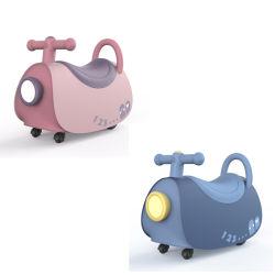 Moto Viajes deslizante coche caballo niños maleta de equipaje de plástico de juguete con música y la luz