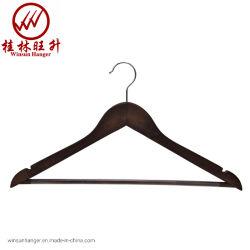 Vêtements vintage en bois solide Hanger avec tube antidérapantes Pantalon Bar