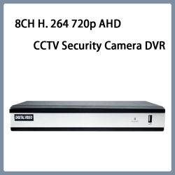 8CH H. 264 H. 265 720p Ahd Video Web CCTV Security Camera DVR