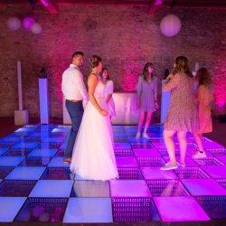 السعر بالجملة المقاوم للمياه، أرضية الرقص LED تجعل الضغط حساسا التفاعلية بلاط 3D ستارة