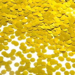 2021 Heißer Verkauf Geschlecht Offenbaren Runde Metallische Runde Papier Konfetti Biologisch abbaubare Runde für Baby Show Party Supplies