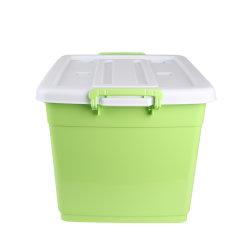 Comercio al por mayor de plástico de gran capacidad de contenedor de almacenamiento de las cajas con tapa