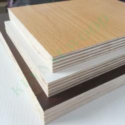 Mobiliario de calidad Premium Tablero MDF laminado Natural Chapa con base de melamina Panel de contrachapado