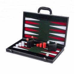 Scacchi internazionali stabiliti di cuoio di lusso e tavola reale del gioco di scacchi degli ispettori della tavola reale dei regali di vendita calda