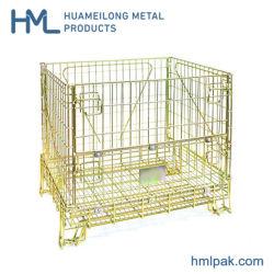 Lagergeschweißtes Falzen Einklappbares Lager Stahldraht Gitterpalettenbehälter