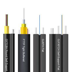 El 1 de 2 núcleos núcleos núcleos núcleos Gjxh 4Gjyxch GJYXFCH 12G657A1 G657A2 G652D FTTH en el interior de fibra óptica Cable de caída al aire libre
