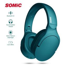 Somic sc2000BT складные наушники Bluetooth 5.0 наушники гарнитуры для iPhone и iPod, MP4, PC, путевые расходы