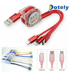 多重USBの充満コードのアダプターの充電器ケーブル