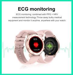 럭셔리 패션 레이디스 스마트 브라치렛 로즈 골드 스마트 워치 Tw89 심박수 ECG 여성 건강 멀티 스포츠 시계 모바일 시계 전화