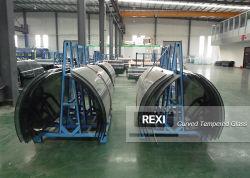 Hot refoulées verre incurvé clair prix d'usine feuilleté trempé de flexion Feuille 4mm 5mm de 6mm 8mm 10mm 12mm 15mm 19mm