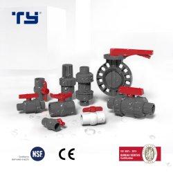 Pn10 Pn16 de StandaardKogelklep Plastic/PVC/CPVC/PPR van ASTM