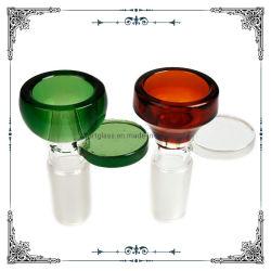 Bol en verre coloré avec la tige de verre bols de mauvaises herbes de gros fumeurs