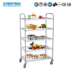 Cocina Heavybao utiliza Acero Inoxidable Multi-Store Carro Comedor