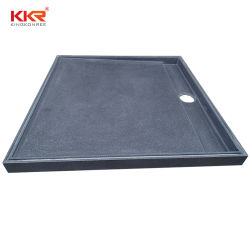 Bandeja impermeable Australia Superficie sólida de piedra de resina baño ducha Base (KKR-2001-7)