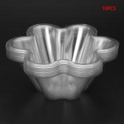 10pcs Recipiente de plástico desechable transparente la sopa de helado de Caramelo Ensaladeras 250ml nuevo de vajilla de cocina