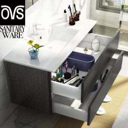 Commerce de gros hôtel SALLE DE BAINS MEUBLES 23-47 pouces montés au mur Salle de bains Vanity Cabinet