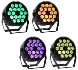 RGBW 18*10W DMX512 PAR64 IP65 lautes Summen wasserdichtes LED NENNWERT Licht