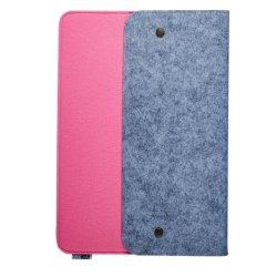 Einfacher Entwurfs-Filz-Laptop-Hülse mit Schnelltasten-neues Produkt-Rosa-blauem Mischentwurf