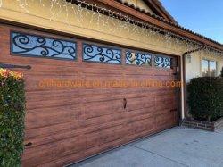 Galvanizado baratos enrollar las puertas de garaje automática de rollo de aluminio residencial de la impermeabilización de deslizamiento horizontal hasta las puertas de garaje