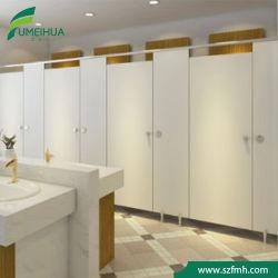 Noir et blanc stratifié compact phénolique solide Partition de l'armoire de toilette