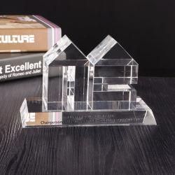 El grabado láser 3D Cubo de cristal artesanal para decoración de cristal souvenirs