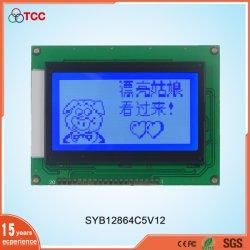 Commerce de gros 12864 graphique personnalisé de l'écran parallèle Aip contrôleur31107/8 Rétroéclairage LED 20broches 128X64 points Module d'affichage LCD