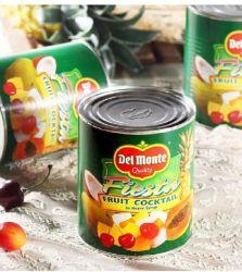Cultivo fresco excelente surtido de frutas enlatadas grado