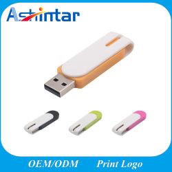 محرك أقراص USB محمول عالي السرعة ذاكرة فلاش USB دوارة على الموضة شريحة USB بلاستيكية