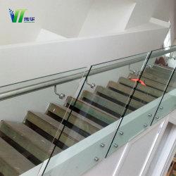 Rampe d'escalier de verre feuilleté de sécurité avec CE, CCC, la norme ISO9001 de haute qualité