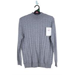 Damen Intarsia Stricken Grau Kaschmir Pullover Custom Design Pullover