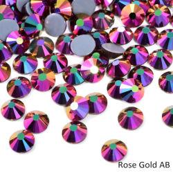 Ferro eccellente di cristallo di Strass di scintillio del Rhinestone caldo di difficoltà di alta qualità dell'oro ab di Ss6-Ss30 Rosa sui Rhinestones per l'indumento del tessuto