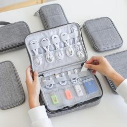 多機能の携帯用データラインオルガナイザー旅行袋の電話充電器USBのフラッシュディスクSDカードのオルガナイザー袋のデジタルアクセサリの記憶袋