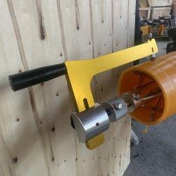 Tuyau de HDPE racloirs rotatif manuel outil pour les raccords Electrofusion