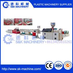 Différentes tailles et de matériel pour PP/PE/PPR/PVC Double/Lits Jumeaux et vissez le tuyau d'Extrusion unique ligne de production de la machine dans la vente à chaud