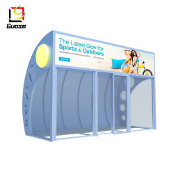 Indoor Air Conditionné Arrêt de Bus de métal abri avec porte en verre abris bus