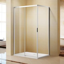Simple & Semi-Frameless Elegent Square salle de douche coulissantes L06342