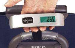Hostweigh 50kg 디지털 손 전자 짐 가늠자 여행 수화물 가늠자