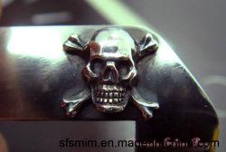 Avertisseur sonore du crâne Handmade Buckles 100 % de l'argent pur Sfs-Shv04