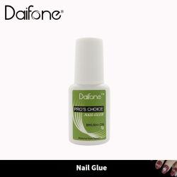 Daifone Transparente Cola unha com escova 7g falso pegajoso pedaços de unhas emperrando jóias com diamantes esmalte de unha ferramentas cola da peça