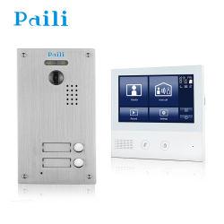 Écran tactile 7 pouces HD Sonnette de porte vidéo de sécurité à domicile avec la mémoire du téléphone